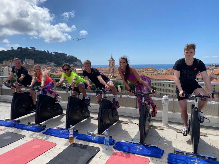 L'instant fitness sur la terrasse de l'hôtel
