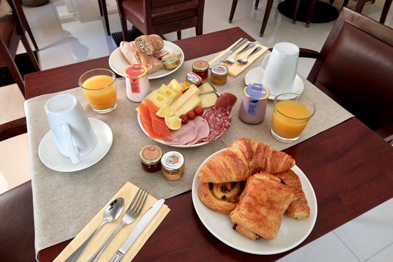 Détail du petit déjeuner